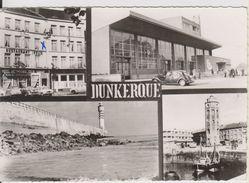 D59 - DUNKERQUE - L'HOTEL RESTAURANT FELIX-LA GARE-LA JETEE OUEST-LA CALE DES PECHEURS- MULTIVUES-CPSM Grand Format - Dunkerque