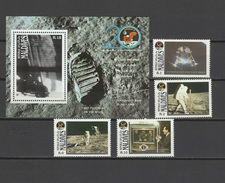 Maldives 1989 Space Apollo 11 Moon Landing 20th Anniversary Set Of 4 + S/s MNH - Espace