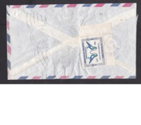 Afghanistan: Airmail Cover, 1970, 1 Corner Stamp, Women's Day, Pigeon, Bird, Rare Real Use! (minor Damage, See Scan) - Afghanistan