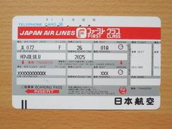 Japon Japan Free Front Bar Balken Phonecard - Airline - JAL / 110-19714 / - Avions