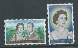 Mauritius 1972 QEII Royal Visit Set 2 MNH - Mauritius (1968-...)