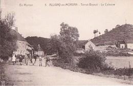 58 ALLIGNY  Série En Morvan DUCIEL Coin Du VILLAGE Chemin Animé ENFANTS Le TERROT BRENOT Vue Sur Le CALVAIRE - France