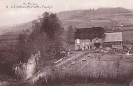 58 ALLIGNY Série En Morvan DUCIEL Joli PAYSAGE Maison Bord D' EAU Et Son Jardin Potager - France
