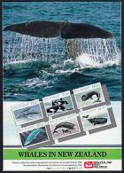 C0477 NEW ZEALAND 1988, SG 1491-6 Presentation Pack Whales MNH - Presentation Packs