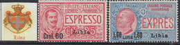 ITALIA - LIBIA- Sassone Exp N.5-6 - Cat. 100 Euro  MNH** - Gomma Integra - Libya