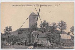Environs De SAINT AIGNAN - NOYERS - Le Moulin à Vent - état - Autres Communes