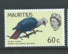 Mauritius 1965 60c Bird Definitive Inverted Watermark MNH - Mauritius (1968-...)