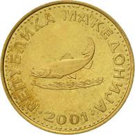 Macédoine, 2 Denari, 2001, TTB, Laiton, KM:3 - Macedonia