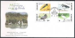 Hong Kong, 1997, Fauna, Birds, Migratory Birds, FDC - Hong Kong (1997-...)