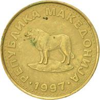 Macédoine, Denar, 1997, TTB, Laiton, KM:2 - Macédoine