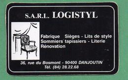 SARL LOGISTYL 90400  DANJOUTIN - FABRIQUE SIEGE S LITS SOMMIERS /  AUTOCOLLANT - Autocollants