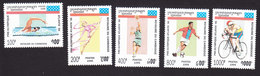 Cambodia, Scott #1420-1424, Mint Hinged, Olympics, Issued 1995 - Cambodia