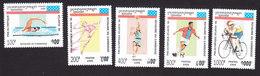 Cambodia, Scott #1420-1424, Mint Hinged, Olympics, Issued 1995 - Cambodge