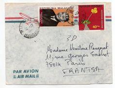 Madagascar-1980--Lettre  Pour PARIS-75--Jolie Composition De Timbres - Madagascar (1960-...)
