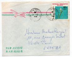Madagascar-1981--Lettre De VOHIPENO  Pour PARIS-75--tp Seul Sur Lettre--cachet - Madagascar (1960-...)