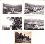 GRADARA - LOTTO DI 4 FOTO DEL 1962 ED UNA DEL 1936 ANIMATA CON AUTO CON DIDASCALIA - Lieux