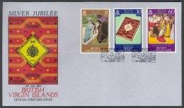 British Virgin Islands, 1977, Queen Elisabeth, Silver Jubilee, FDC - British Virgin Islands