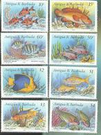 ANTIGUA    1295-1302 MINT NEVER HINGED SET OF STAMPS OF FISH-MARINE LIFE - Peces