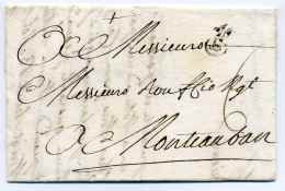 MP BORDEAUX  B Encerclé + Fleur De Lys / Dept De La Gironde / 1760 / Pour Montauban - 1701-1800: Précurseurs XVIII
