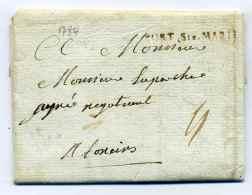 MP  PORT SAINTE MARIE   Lenain N°5 / Dept Lot Et Garonne / 24 Mars 1784 - Marcophilie (Lettres)