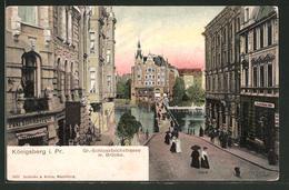 AK Königsberg, Gr.-Schlossteichstrasse Mit Brücke - Ostpreussen