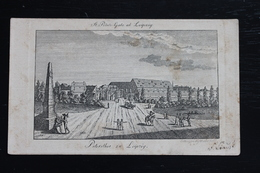 Old Engraving St. Peters Gate At Leipzig / Petersthor Zu Leipzig, Deutschland Germany, 1820s, 97 X 163 Mm, - Old Paper