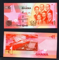 GHANA  -  01/03/2010  1 Cedi  Hydro Electric Dam  Unc. - Ghana