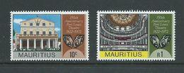 Mauritius 1972 Port Louis Theatre Anniversary Set 2 MNH - Mauritius (1968-...)