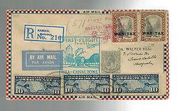 1930 Bahamas First Flight Cover To Venezula FFC Via US Canal Zone - Bahamas (...-1973)