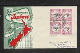 New Zealand, Boy Scouts, Pan Pacific Jamboree 1959,  FDC - FDC