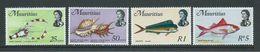Mauritius 1971 Fish & Marine Life Definitives Glazed Paper Printing 4 Values To 5R MNH - Mauritius (1968-...)