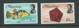 Mauritius 1972 Fish & Marine Life Definitives Glazed Paper Printing 5c & 10c MNH - Mauritius (1968-...)