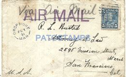 76681 CANADA COVER YEAR 1931 LACK OF LAP CIRCULATED TO US NO POSTAL POSTCARD - Canadá
