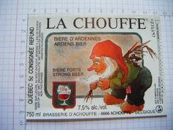 Étiquette LA  CHOUFFE  BRASSERIE D' ACHOUFFE - 9 - Beer