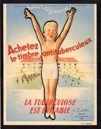 Publicité Affichette Comité National De Défense Contre La Tuberculose  ( Dessin De Wilquin ) - Posters