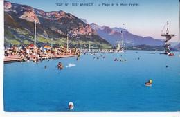1105 ANNECY                                  La Plage Et Le Mont Veyrier - Annecy