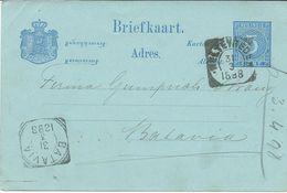 Netherlands > Netherlands Indies 1898 Stamped Stationery - Weltevreden Via Batavia - Indes Néerlandaises