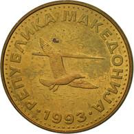 Macédoine, 50 Deni, 1993, TTB, Laiton, KM:1 - Macédoine