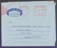 SINGAPORE Postal History Aerogramme - Slogan Meter Franking Postmark Cover, Used 1974 - Singapore (1959-...)