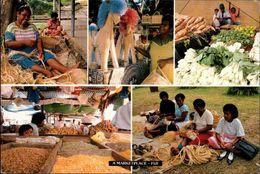 ! Moderne Ansichtskarte Aus Fiji, Marketplace, 1995 - Fidji