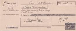 Fiscal Fiscaux -  Timbre 90 C Sur QUITTANCE FACTICE école De Commerce PIGIER - Specimen - OSMONT 1942 - Fiscaux