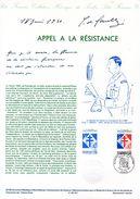 """FRANCE 2000 : Document Philatélique Officiel De 1990 N° 20-90 """" DE GAULLE : APPEL A LA RESISTANCE """" N° YT 2656. DPO - De Gaulle (Général)"""