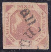 NAPOLI 1858 - 2 Gr. Rosa Carminio Sass. N. 7c (lll Tavola) - Napoli