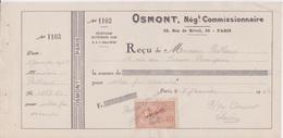 Fiscal Fiscaux - Timbre Specimen 2F40  Sur Reçu FACTICE école De Commerce PIGIER -  Cachet OSMONT 1942 - Fiscaux