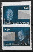 Groënland 2008 486/487 Neufs Adhésifs Europa écriture D´une Lettre - Groenland