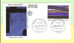 1er Jour 1986. 20 Decembre. Pierre Soulages.. Cote 2013. 4.00 &euro.ttb - FDC