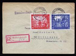 A4837) Kontrollrat R-Brief Mellrichstadt 25.9.47 Mi.965-966 - Gemeinschaftsausgaben