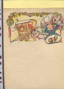 Belgie 3 Lettres Illustrées Signature J Balliu Ca 1940 Dessins D'enfants Theme Noel Vente De Fruit Et Legumes Tomates - Illustrateurs & Photographes