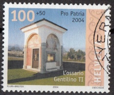 B683 Svizzera 2004 Piccoli Edifici : Ossario Ossuary Gentilino  Used Helvetia Switzerland - Used Stamps