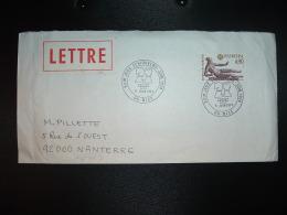 LETTRE TP EUROPA 0,90 OBL.6 JUIN 1974 06 NICE XXIes JEUX ECHIQUEENS JUIN 1974 - Schaken